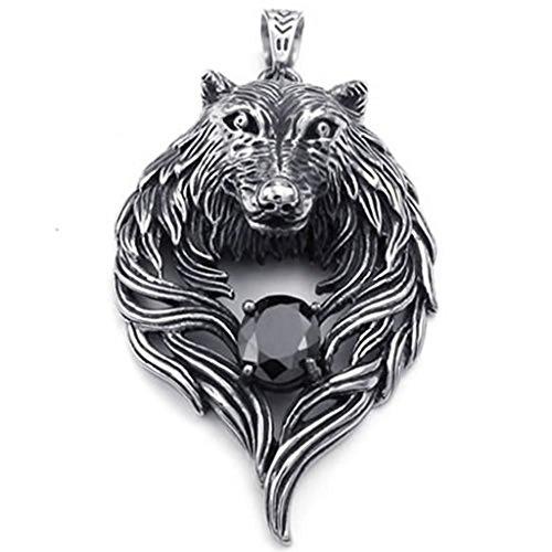Stainless Steel Bullet Shape Bible Cross Necklace Charm Pendant - (Black) - 8