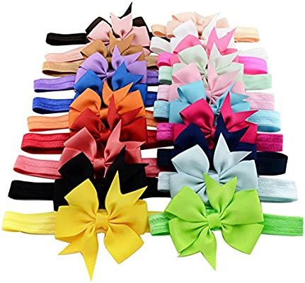 Baby Girls Headbands,Girls Wave Headbands Bowknot Hair Accessories Infant Toddlers Kids Hair Band Elastic Baby Headband Turban Knot Head Wraps DEELIN