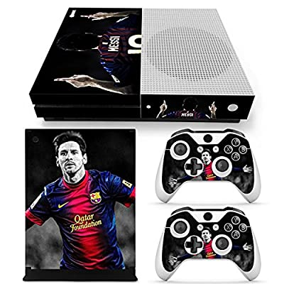 GoldenDeal Xbox One S Console and Wireless Controller Skin Set - Soccer - XboxOne S XOS Sticker Vinyl