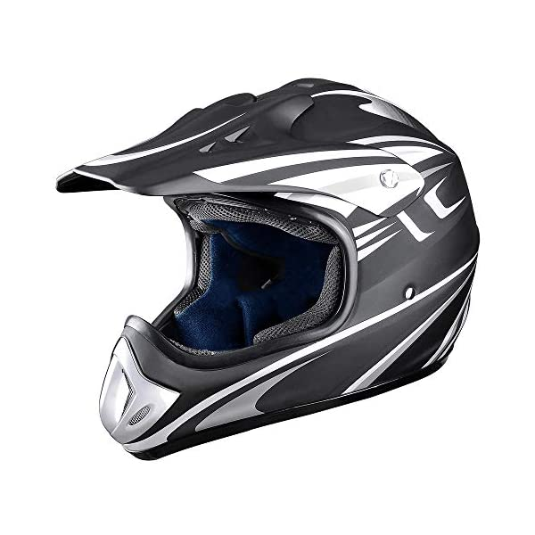 AHR DOT Full Face Motorcycle Helmet Motocross Off-Road Dirt Bike ATV M/L/XL Adult