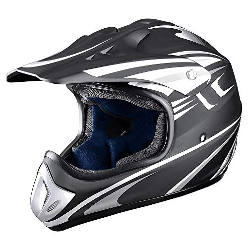 (AHR DOT Outdoor Adult Full Face MX Helmet Motocross Off-Road Dirt Bike Motorcycle ATV M)