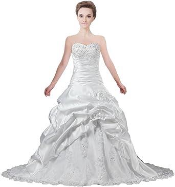 Ants Women S Sweetheart Flower Satin Lace Ball Gown Wedding
