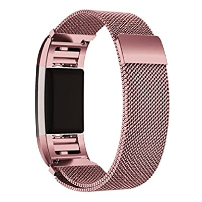 Fitbit Charge 2 Bands,UINSTONE Fitbit Charge 2 Wristband Wrist Band Bracelet with Clasp Replacement Band Accessory for Fitbit Charge 2 (Purple)