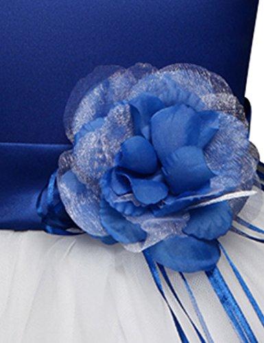 Tutu Da Ragazza Per Il Piegano Che Di Bambino Nnjxd Petali Fiori Sposa Vestito Blue1 t8wqZIf