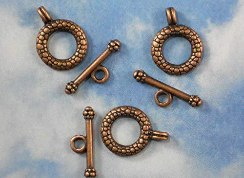 6 Toggle Bar Ring Clasps Sets Antique Copper Tone Closure Clasp #ID-201