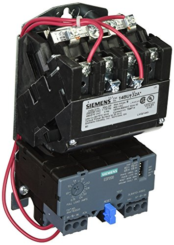 - Siemens 14BUB32AA Heavy Duty Motor Starter, Solid State Overload, Auto/Manual Reset, Open Type, Standard Width Enclosure, 3 Phase, 3 Pole, 00 NEMA Size, 0.75-3.4A Amp Range, A Frame Size, 110-120/220-240 at 60Hz Coil Voltage