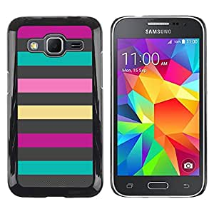 Exotic-Star ( Lines Teal Pink Purple Summer Pattern ) Fundas Cover Cubre Hard Case Cover para Samsung Galaxy Core Prime / SM-G360