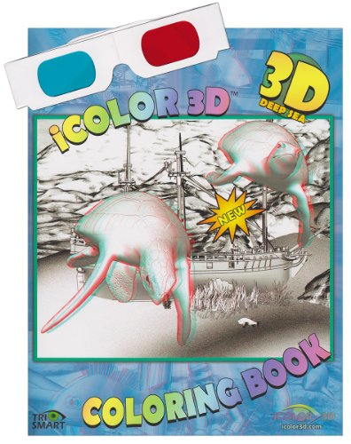 iColor 3D Deep Sea (High Detail) Coloring Book. Watch as Sharks, Turtles, Divers, and All Kinds of Fish Come to Life. (3D Glasses Included) (3d Drawing Pad compare prices)
