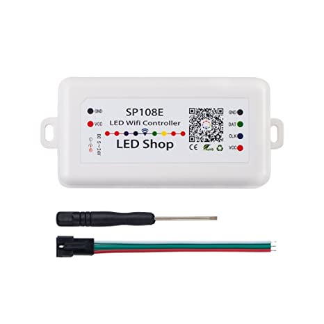wholesale dealer 17012 c2e43 BTF-LIGHITNG WS2812B WiFi SP108E Controller Support WS2811 WS2815 WS2801  SK6812 WS2813 SK9822 APA102C etc Almost All LED Strip Module Light ...