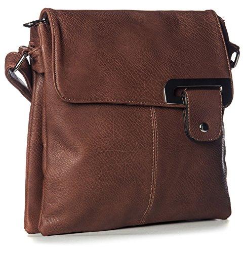 Womens Pocket Medium Dark Body Tan special Messenger Cross Design Multi Bags rqfrw6P
