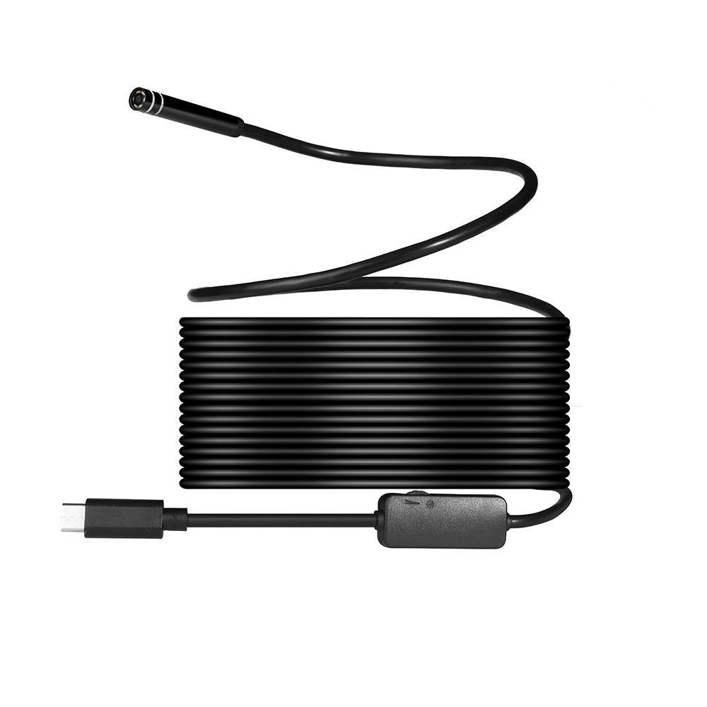 USB wireless endoscopio ,8mm 720p Megapixel HD senza fili 2in1USB tipo C Periscopio impermeabile Snake ispezione fotocamera per Android/MacBook OS con 8PCS LED luminosità regolabile, 10m 10m Teepao 7025779166408