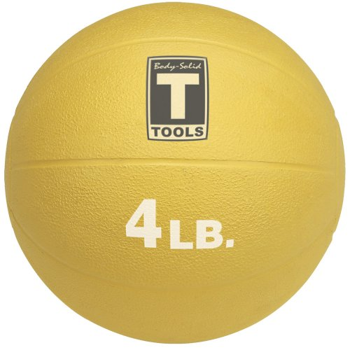 Body Solid Tools BSTMB4 4-Pound Medicine Ball (Yellow)