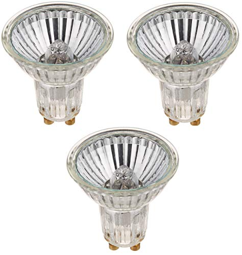 SYLVANIA Tungsten Halogen Lamp Pack of 3 Capsylite PAR16 / Halogen Flood Light Dimmable / GU10 Base / 50 Watt / 2850K - Warm White (3 Pack)