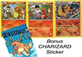 POKEMON - EVOLUTION SET - CHARIZARD/CHARMELEON/CHARMANDER GENERATION RC5/RC32 - HOLO RARE CARD LOT