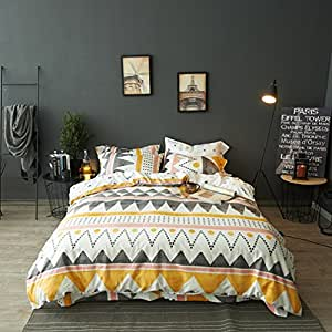 Amazon Com Modern Boho Tribal Bedding Aztec Stripe Print