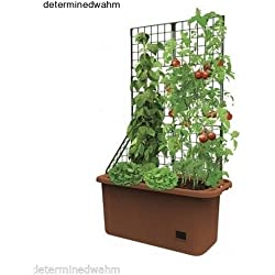 Self Watering Planter Vegetable Patch Garden Patio Mobile Deck Vertical Grower .#GH45843 3468-T34562FD114965