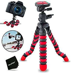 """12"""" Inch Flexible Tripod with Quick Release Plate for Canon EOS Rebel T6i T6S T5i T5 T4i T3i T3 T2i SL1 EOS 70D 60D 7D 6D 5D 750D 700D 650D 600D 550D 1200D 1100D 100D EOS M3 M2 T1i XTi XT SL1 XSi 7D Mark II DSLR Cameras."""