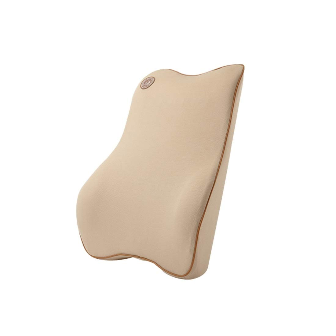 BAOYIT Lumbar Support Pillow, Memory Foam Back Cushion for Car Seat, Office/Computer Chair and Wheelchair (Color : Beige) by BAOYIT