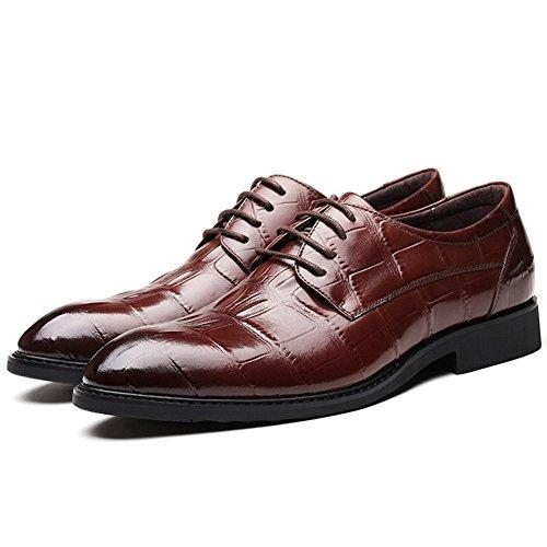 Shoes Tilden Oxford Walk LIYUAN Men's Brown WfTpYY