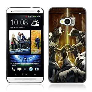 [Funny Cows In Barn] HTC One M7 Case