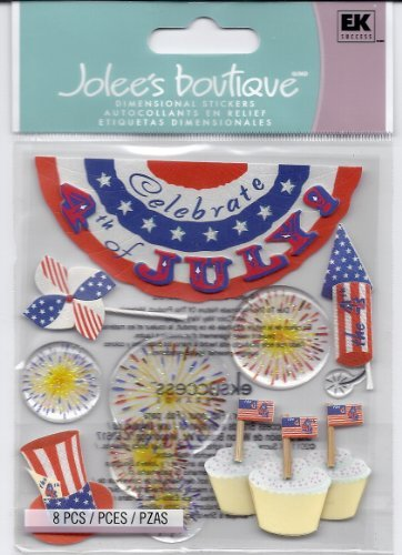 Jolee's Boutique Dimensional Stickers 4th of July (4th Scrapbooking Of July)