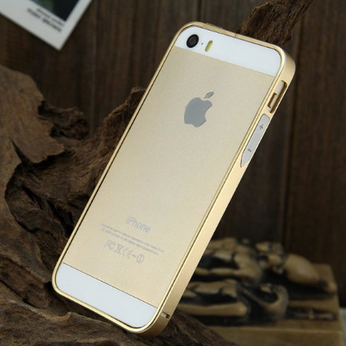 Moon Monkey 0.7mm Ultrathin Clip-on Photive Aluminum Iphone 5 5s Bumper Case(1 Champagne)
