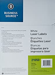 Business Source™ Mailing Laser Label, 1x2-5/8, 3000/PK, White