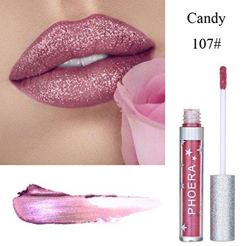 Lip Gloss for Women, Iuhan Glitter Liquid Lipstick Waterproof Lip Gloss Makeup Cosmetics Professional Lip Gloss (G)