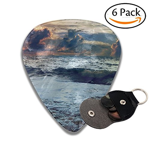 Celluloid Guitar Picks Cold Weather In Ocean Cool Stylish Guitar Accessories 6 Pack For Acoustic, Electric, Original And Bass Guitars