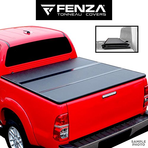 Fenza For 2012-2018 Isuzu D-Max Double Cab Tonneau Cover Hard Tri Folding Truck Bed Cover 5'