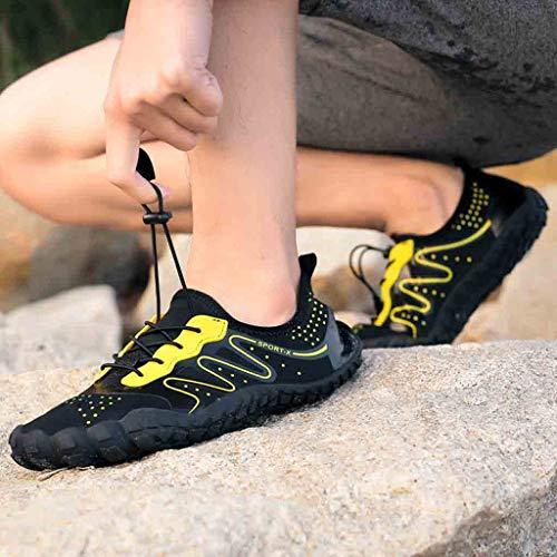 Spiaggia sportive Surf Nuoto yoga Scarpe Creek scarpe Nero scarpe Immersione Asciugatura Snorkeling Luccyone Scarpa sneaker Shoes Sub Rapida Outdoor Da Scarpette Donna HFqwOyxnTC