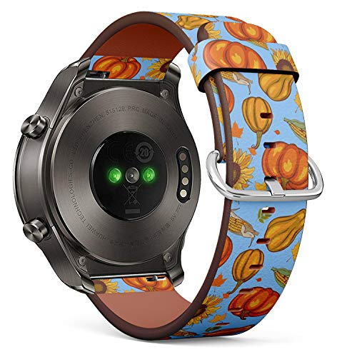 Compatible with Huawei Watch 2 Classic - Leather Watch Wrist Band Strap Bracelet with Quick-Release Pins (Autumn Harvest)