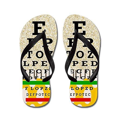 CafePress Eye Chart FF 6.PNG - Flip Flops, Funny Thong Sandals, Beach Sandals Black