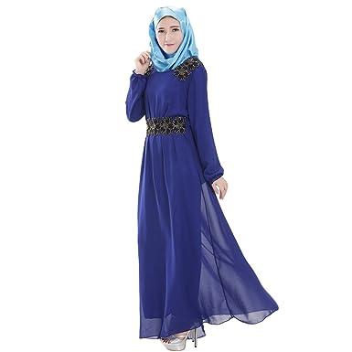 KINDOYO Muslimische Kleidung Frauen Damen islamischen Muslim Lange ...