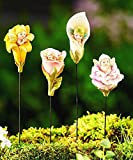 Mini Dollhouse FAIRY GARDEN Accessories - Baby Fairy Flower Stake - Set of 4 - Supplies Ac...