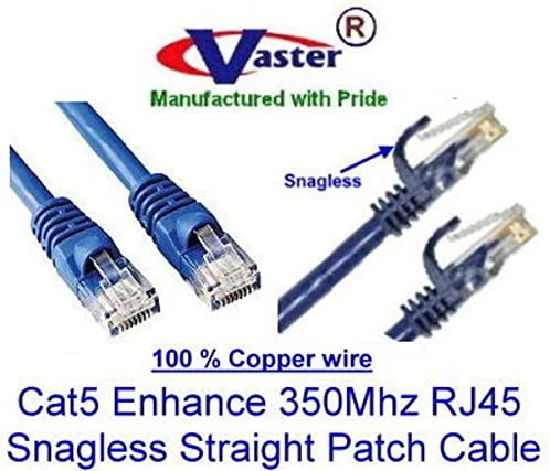 15 Ft Not CCA Wire 100/% Copper UL//ETL 24Awg Wire RJ45 Snagless Straight Patch Cable, Color Blue 20670 Cat5e 350Mhz Patch Cable SuperEcable SKU 20 Pack