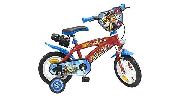 Toimsa – Paw Patrol bicicleta para niños bajo licencia la pat patrulla 12 pulgada (de 3 a 5 años, 1272u , color/modelo surtido: Amazon.es: Juguetes y juegos