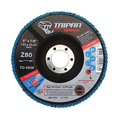 - Taipan Abrasives TO-5038 Original Zirconia Flap Disc, Depressed, 120 Grit, 6
