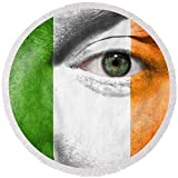 Pixels Round Beach Towel With Tassels featuring ''Go Ireland'' by Semmick Photo