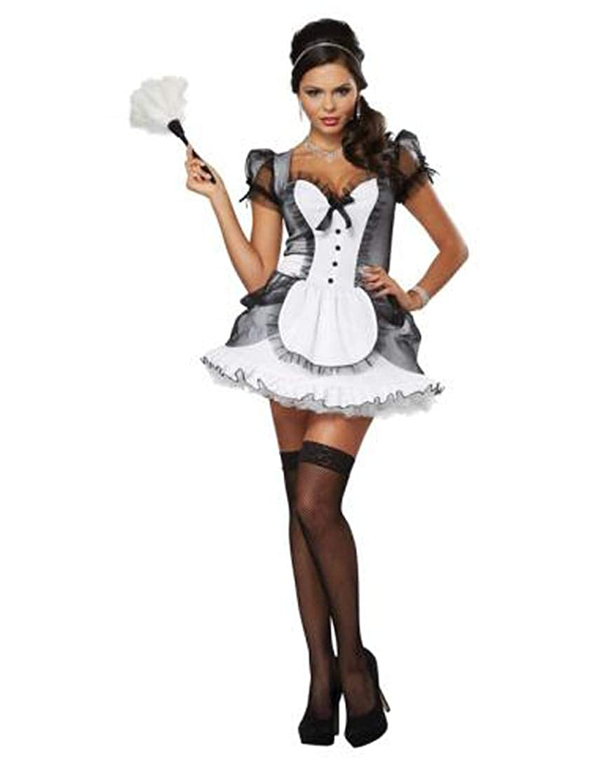 ef0c6ecd87c California Costumes Women's Luxe French Maid Sexy Dress Costume