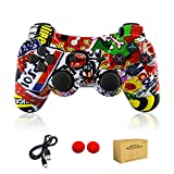 Cheap PS3 controller Wireless Bluetooth Double Shock Sixaxis Remote Gamepad for Sony PS3 PlayStation 3-Street Graffiti 3-5 years old Gift from dainslef