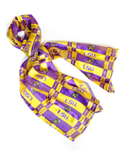 Official NCAA LSU Tigers Sheer Scarf in 2 Styles, 221011351 Sheer Tiger