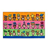 Flagship Carpets CE190-28W Fun at School Rug, Explore Health and Wellness As Well As STEAM Subjects, Children's Classroom Educational Carpet, 5' x 8', 60'' Length, 96'' Width, Multi-Color