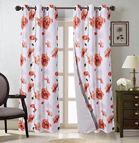 Two (2) Grommet Blackout Curtain 74