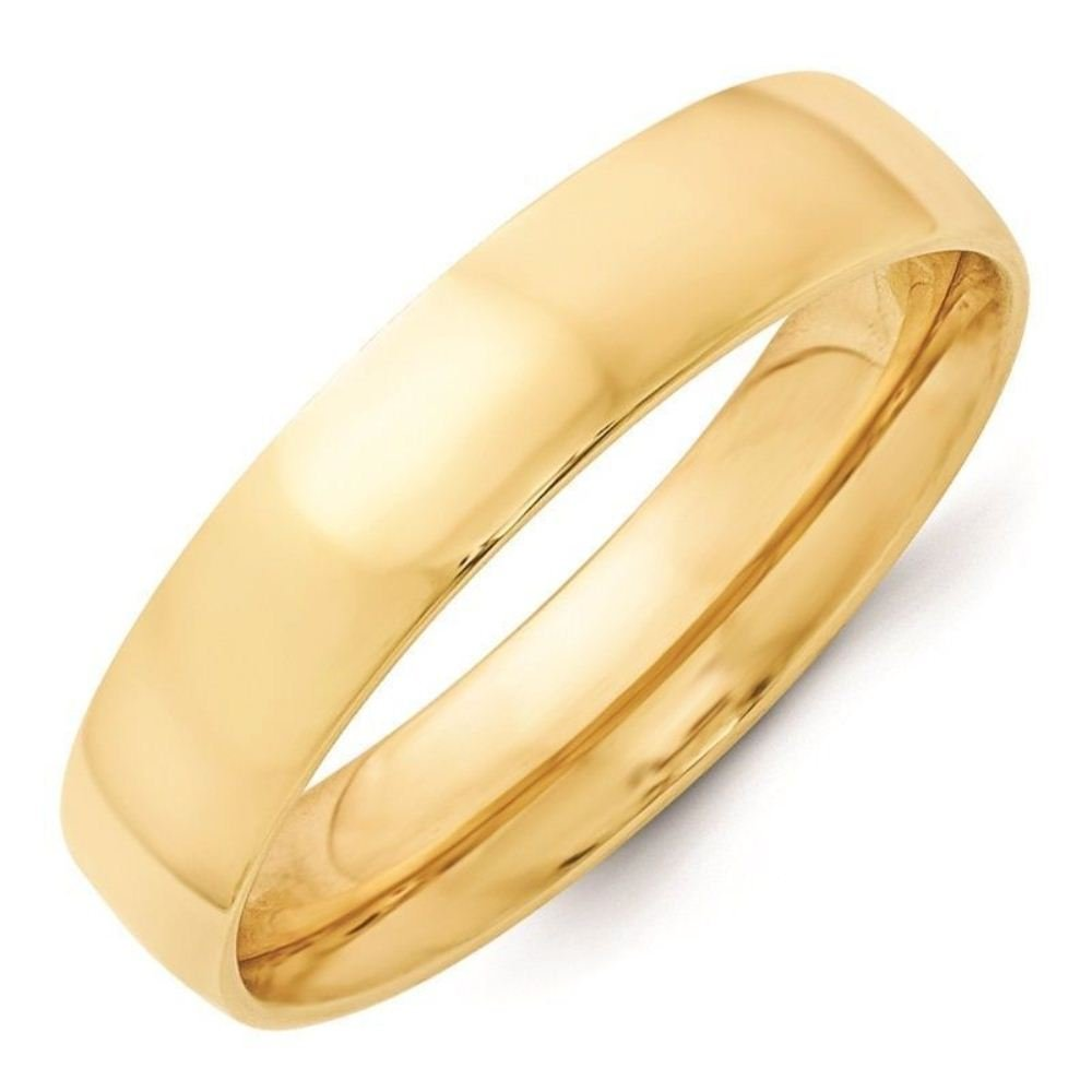 Triostar Light Weight 4mm Band Fine Silver Polish 925 Sterling Silver Yellow Band Ring