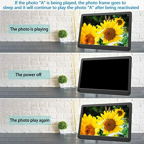 17 inch Digital Picture Frame, 1920×1080 IPS Screen Digital Photo Frame with 32G SD Card and Wall Mount, Motion Sensor, Auto Power On Off, Music Support 1080P Video, SD Card and USB