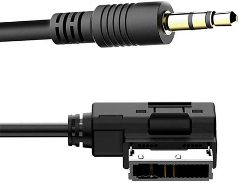 Pencheng Suitable for Audi//Volkswagen AUX Interface Adapter Audi Audio Cable Adapter 3.5 Interface Cable Adapter 5-12V AUX Interface Digital Products
