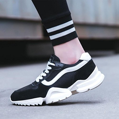 Breathable Mesh Trainers Shoes Walk Lightweight Shoes Ladies Athletic Gym GAOLIXIA Womens Black Thick Shoes Casual Spring Running Shoes Slip on Shoes Sports BwtqOt6nS