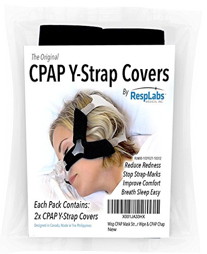 CPAP Headgear Covers, Compatible with Respironics Wisp  [2 Pack] Fleece Comfort Wraps + Inclusions | Machine, Masks & Equipment Supplies by RespLabs