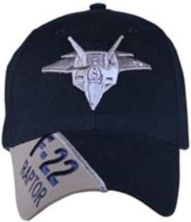 US Air Force F-22 Raptor Ball Cap Blue Black Adjustable